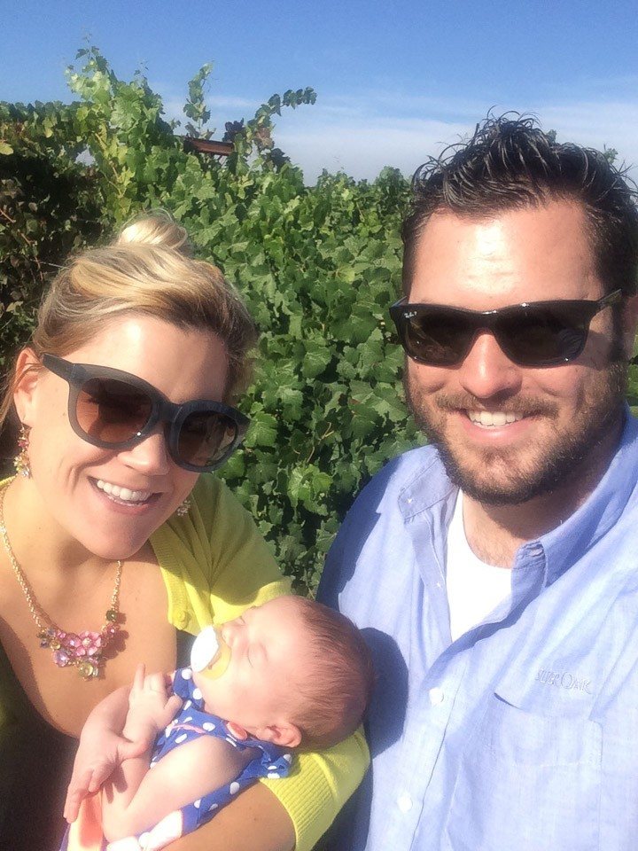 Jaclynn and family in vineyard